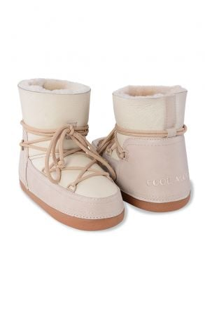 Cool Moon Women Snowboots From Genuine Fur Light Beage