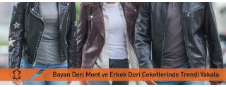 Bayan Deri Mont ve Erkek Deri Ceket Modelleri