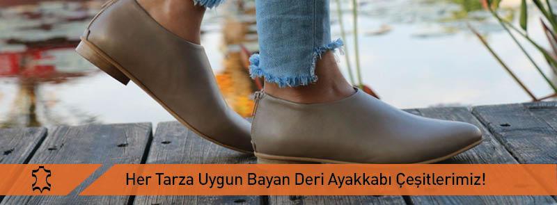 Her Tarza Uygun Bayan Deri Ayakkabı