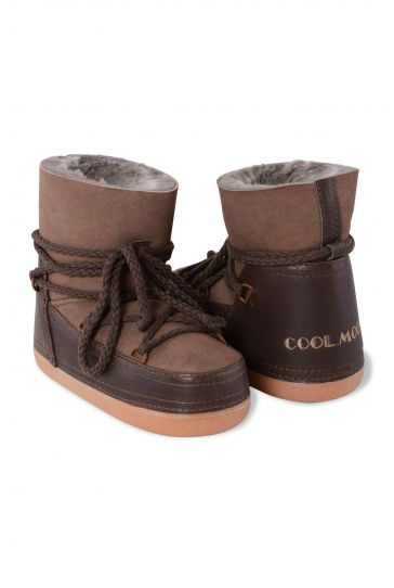 Cool Moon Genuine Leather & Shearling Women's Snowboots 251027 Kahve