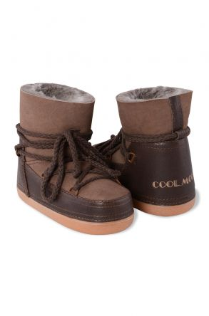 Cool Moon Genuine Leather & Shearling Women's Snowboots 251027 Brown