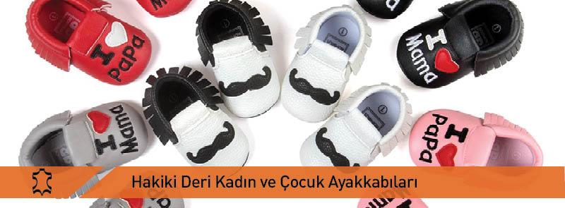 Hakiki Deri Kadın Ve Çocuk Ayakkabıları