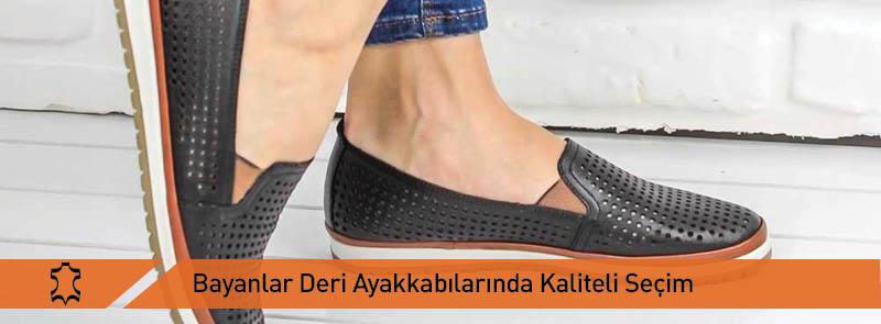 Bayan Deri Ayakkabılarında Kaliteli Seçim