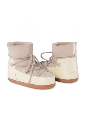 Cool Moon Genuine Leather & Shearling Women's Snowboots 251031 Beige