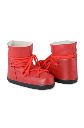 Cool Moon Women Snowboots From Genuine Fur Red
