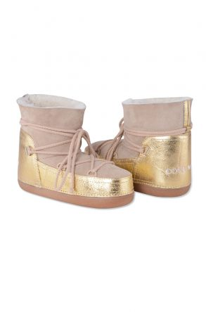 Cool Moon Genuine Leather & Shearling Women's Snowboots 251034 Beige