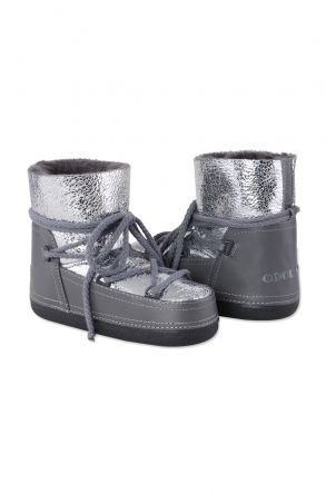 Cool Moon Genuine Leather & Shearling Women's Snowboots 251041 Gray