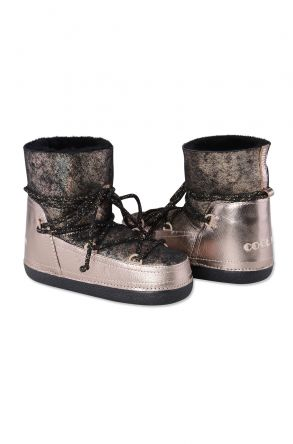 Cool Moon Women Snowboots From Genuine Fur Bronze
