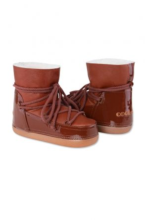 Cool Moon Genuine Cavallino Leather Women's Snowboots 251020 Ginger