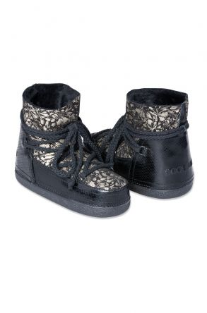 Cool Moon Genuine Leather & Shearling Women's Snowboots 251036 Black