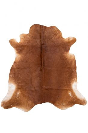Erdogan Deri Natural Shaped Genuine Calfskin Carpet DH0118 Brown