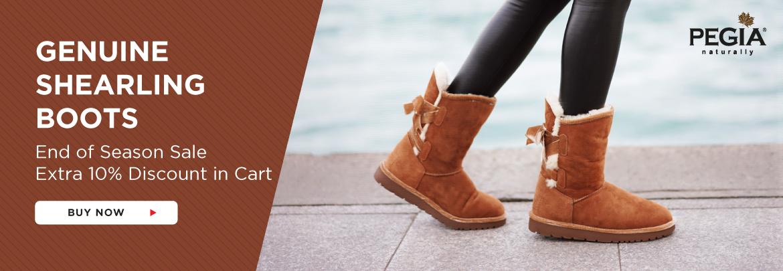 women shearling boots