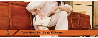 Yazlık Beyaz Deri Çanta Kullanımı
