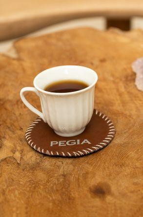 Pegia Tekli Hakiki Deri Bardak Altlığı B113 Kahve
