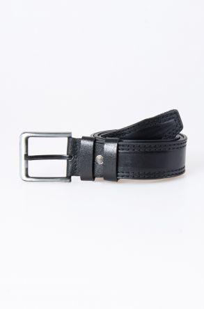 Pegia Original Leather Men's Belt 19KMR01 Black