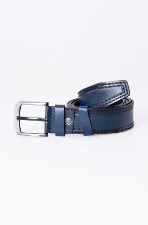 Pegia Original Leather Men's Belt 19KMR01 Navy blue