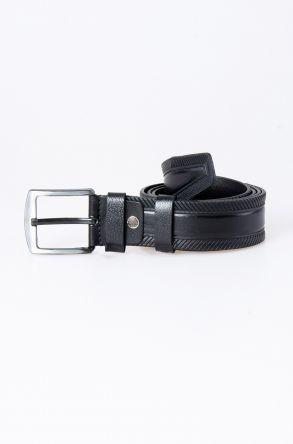 Pegia Original Leather Men's Belt 19KMR02 Black