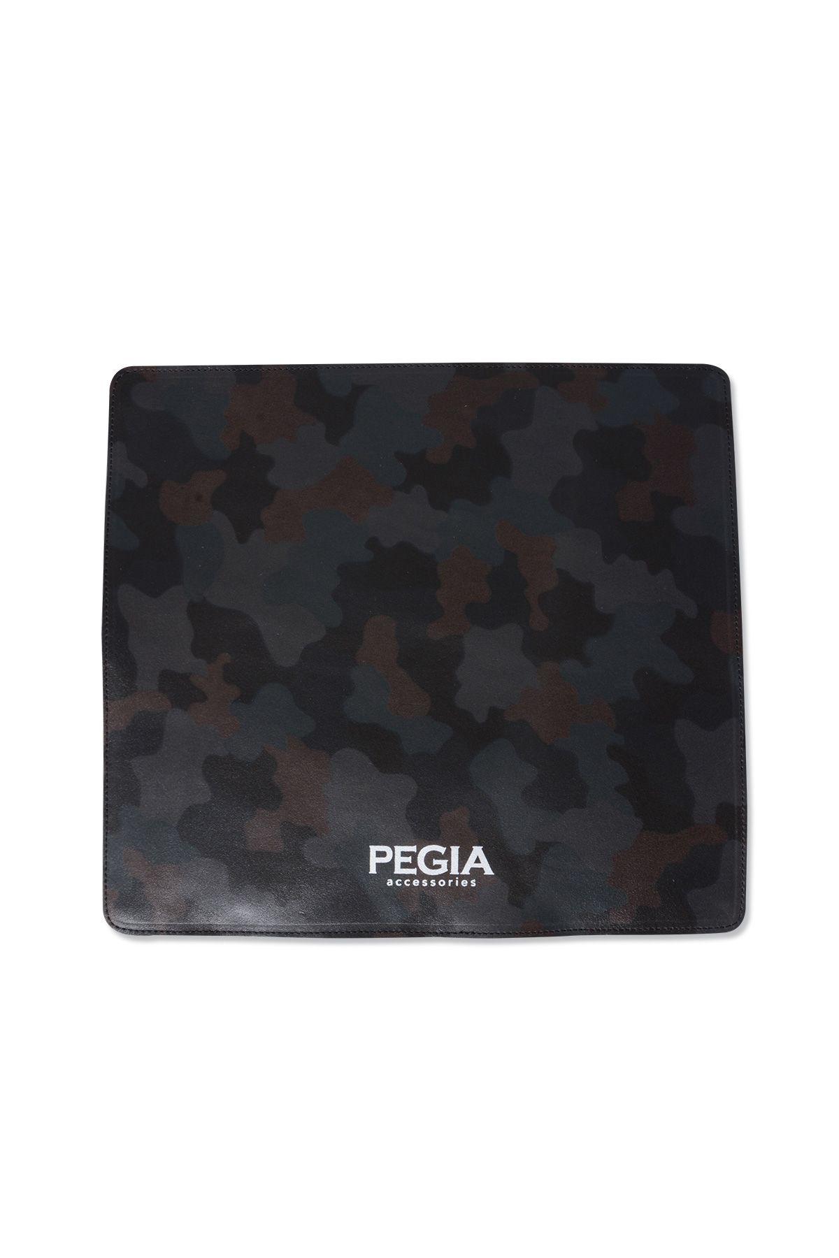 Pegia Hakiki Deri Kamuflaj Baskılı Mouse Pad MP101 Koyu Yeşil