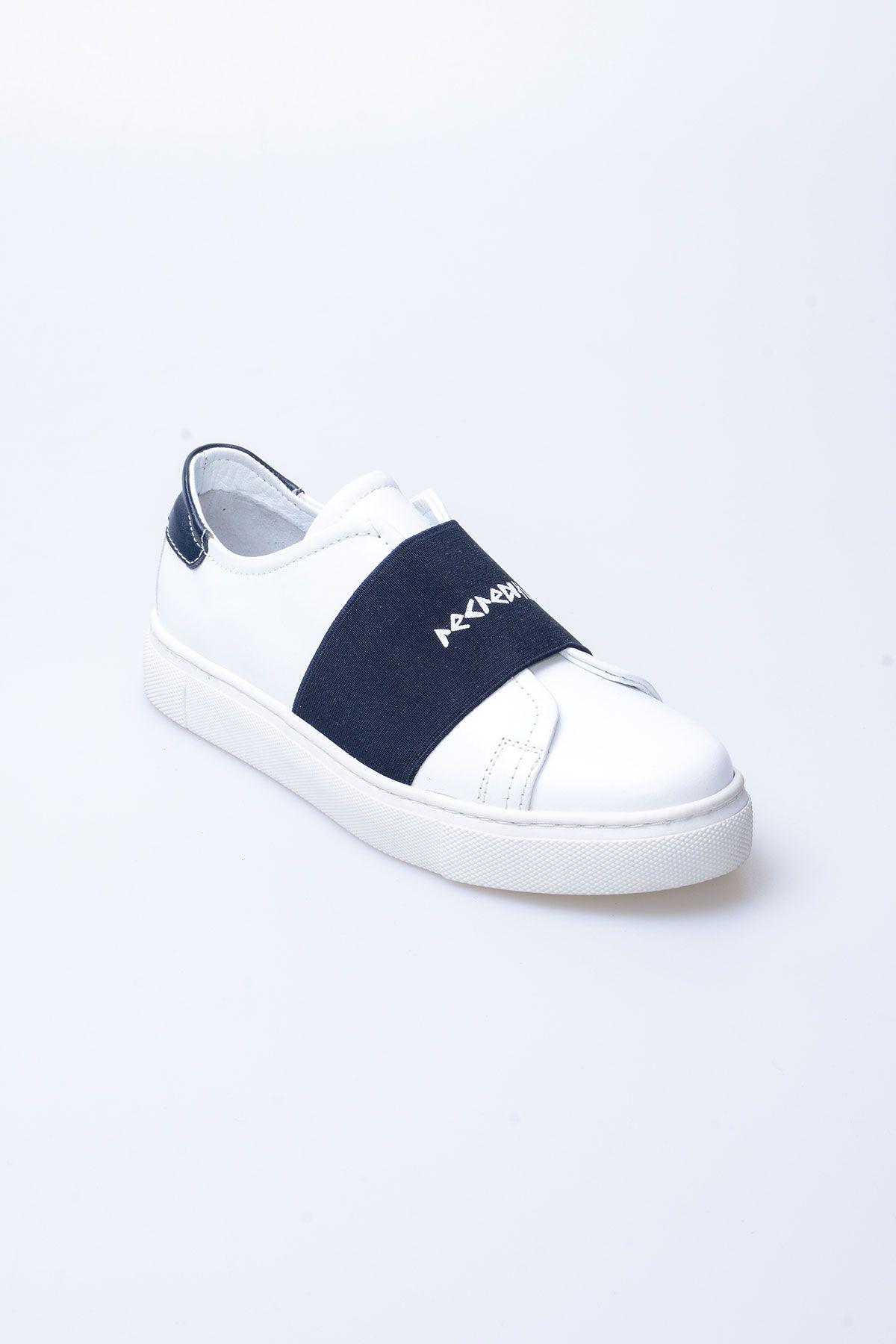 Pegia Recreation Hakiki Deri Bayan Sneaker 19REC101 Lacivert