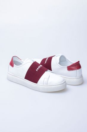 Pegia Recreation Hakiki Deri Bayan Sneaker 19REC101 Bordo