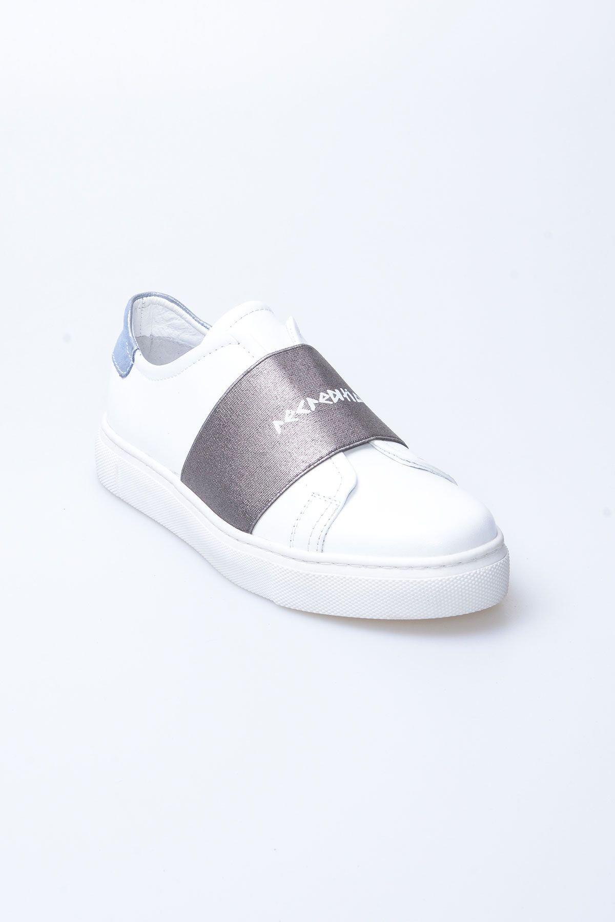 Pegia Recreation Hakiki Deri Bayan Sneaker 19REC101 Antrasit