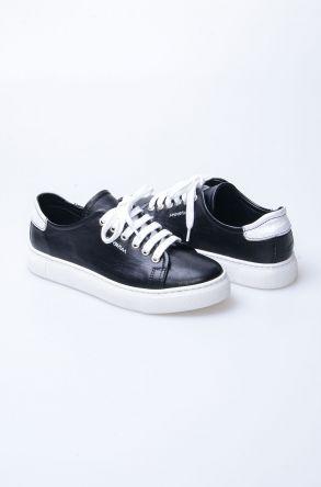 Pegia Recreation Hakiki Deri Bayan Sneaker 19REC201 Siyah