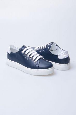 Pegia Recreation Hakiki Deri Bayan Sneaker 19REC201 Lacivert