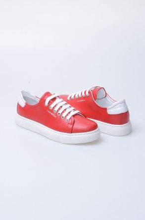 Pegia Recreation Hakiki Deri Bayan Sneaker 19REC201 Red