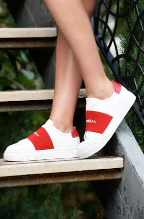 Pegia Recreation Hakiki Deri Bayan Sneaker 19REC101 Red