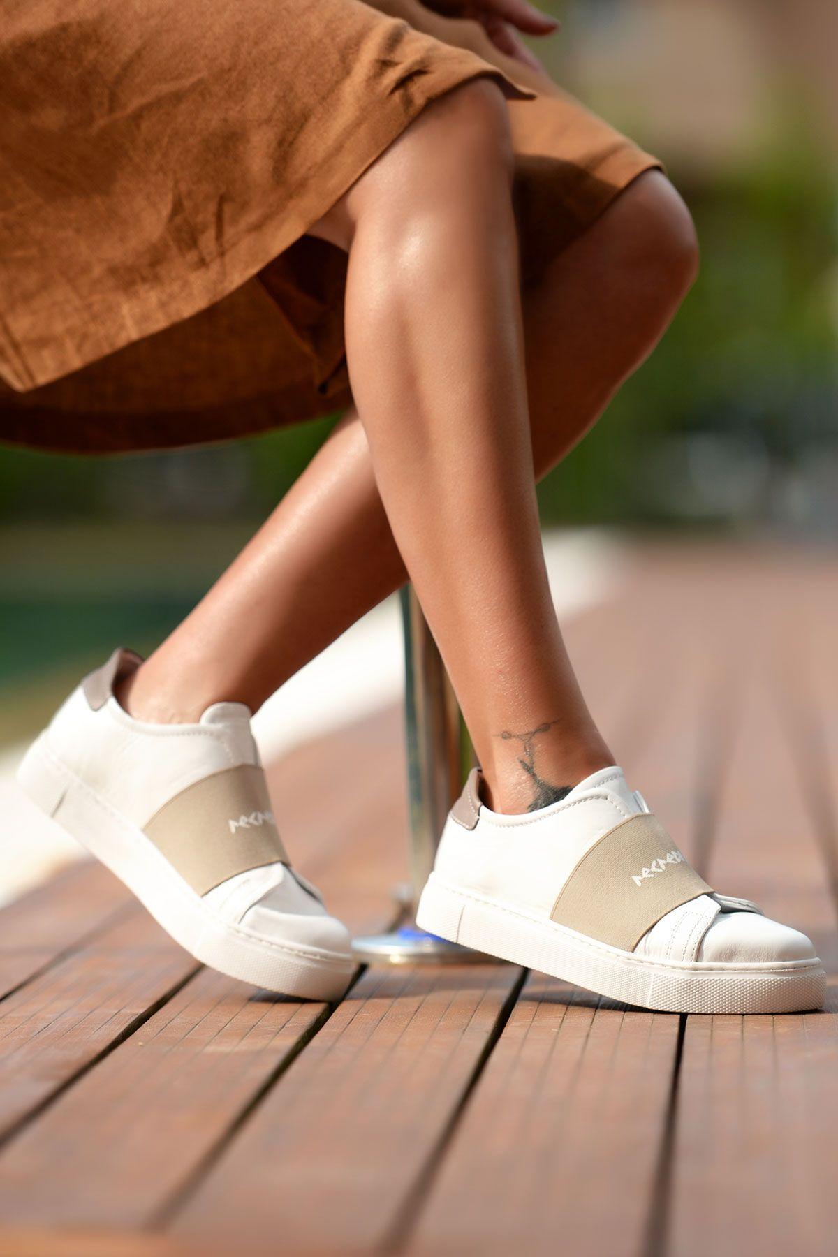 Pegia Recreation Hakiki Deri Bayan Sneaker 19REC101 Vizon
