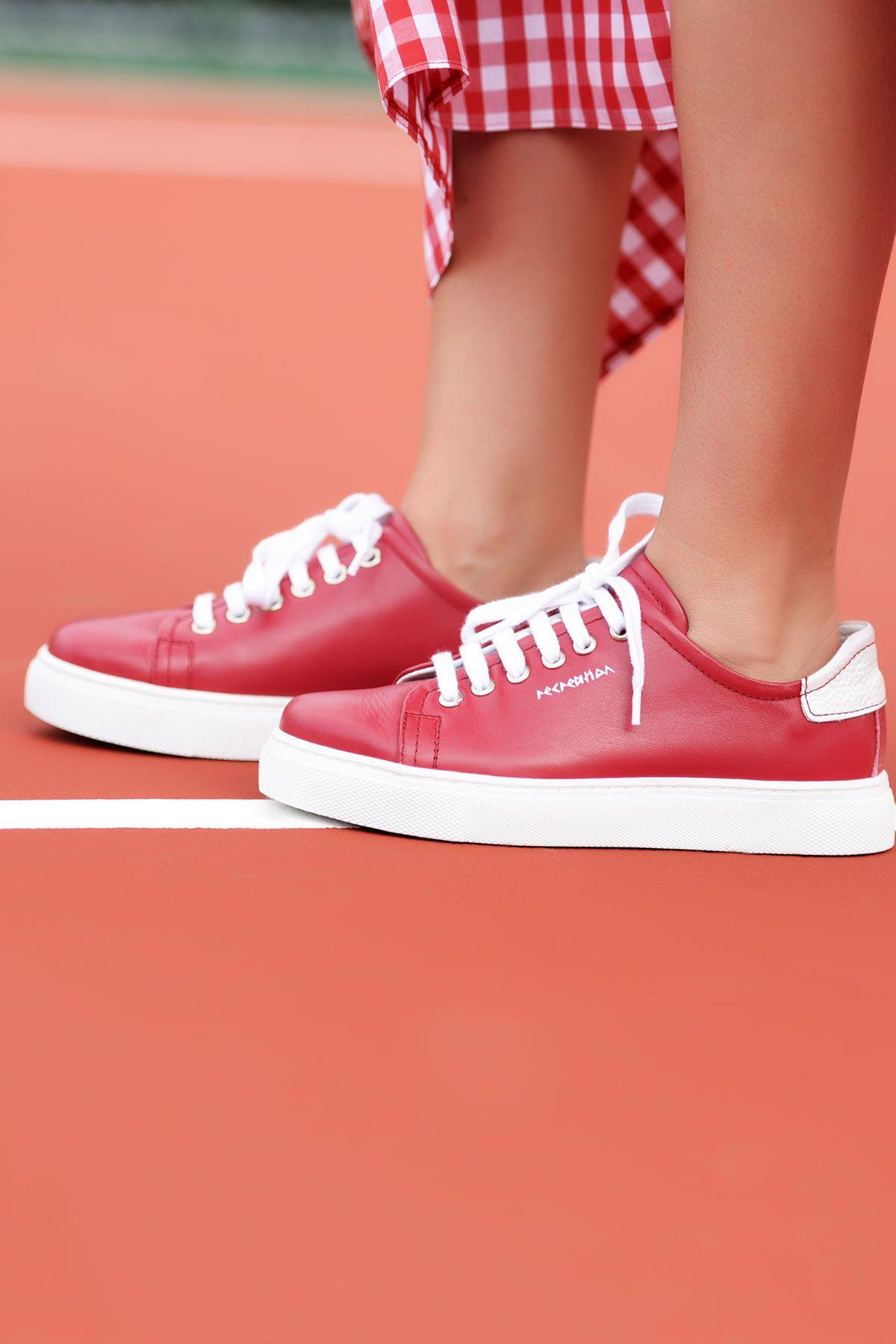 Pegia Recreation Hakiki Deri Bayan Sneaker 19REC201 Fuşya