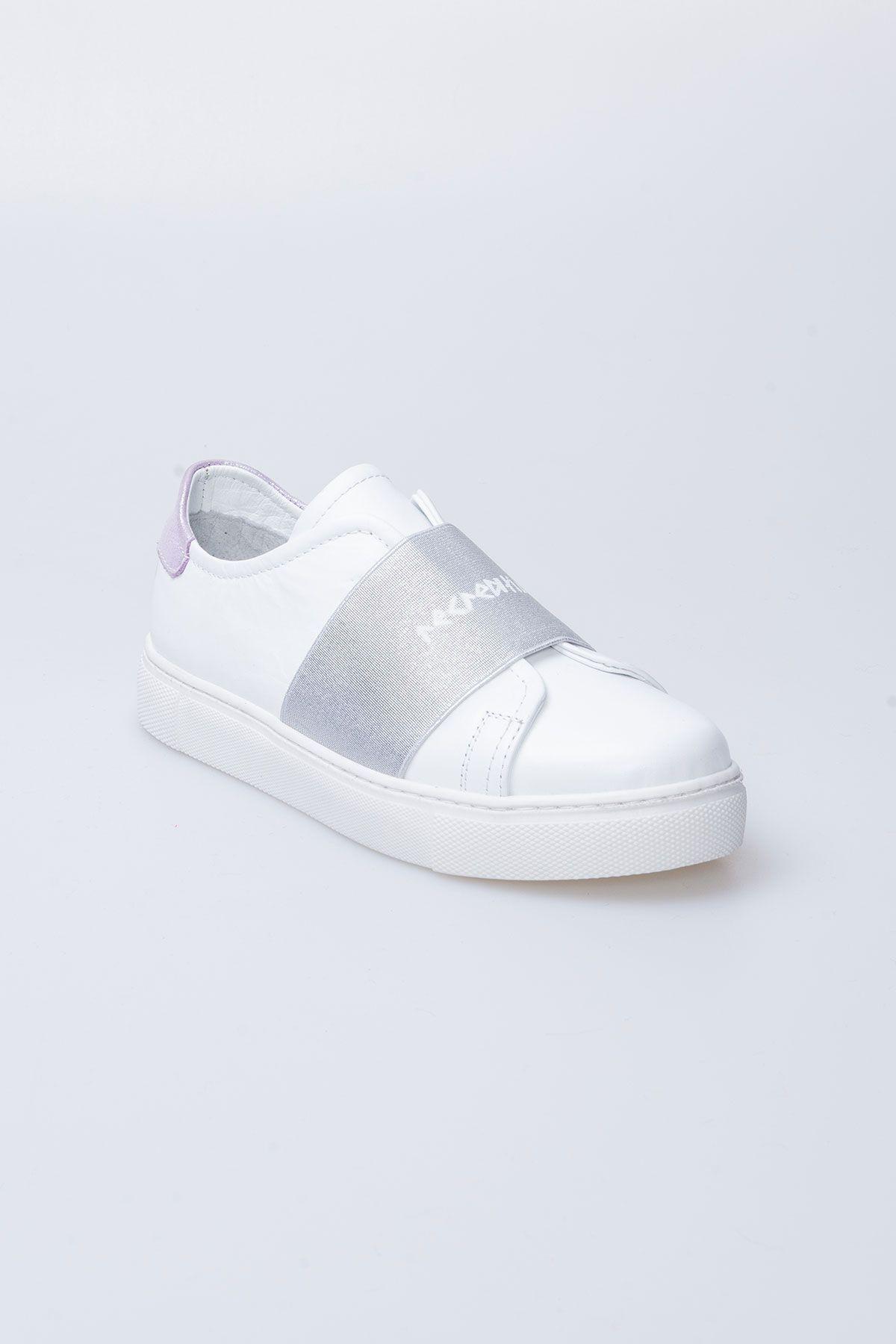 Pegia Recreation Hakiki Deri Bayan Sneaker 19REC101 Gümüş