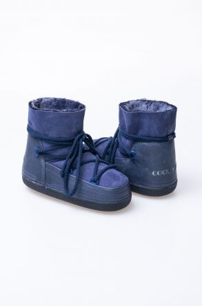 Cool Moon Women Snowboots From Genuine Fur Navy blue
