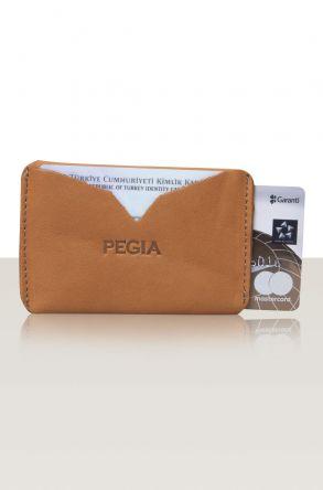 Pegia Hakiki Deri Kartlık 19CZ102 Taba