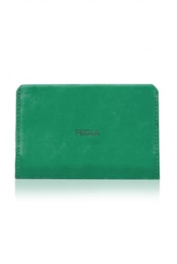 Pegia Hakiki Deri Nubuk Büyük Boy Cüzdan 19CZ306 Yeşil