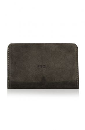 Pegia Original Leather Suede Wallet Big Size  19CZ312 Khaki