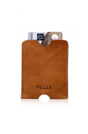 Pegia Hakiki Deri Kartlık Cüzdan 19CZ203 Brick-red