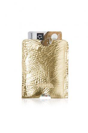 Pegia Hakiki Deri Kartlık Cüzdan 19CZ212 Altın