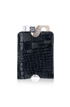 Pegia Hakiki Cavallino Deri Kroko Kartlık Cüzdan 19CZ247 Black
