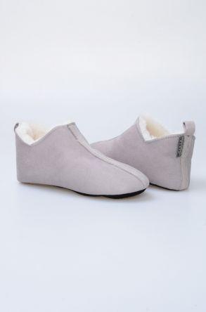 Pegia Hakiki Kürk Bayan Ev Ayakkabısı 980427 Gri