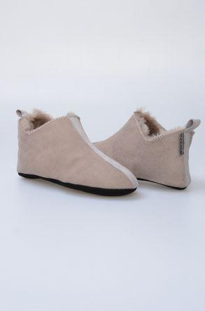 Pegia Hakiki Kürk Bayan Ev Ayakkabısı 980429 Vizon