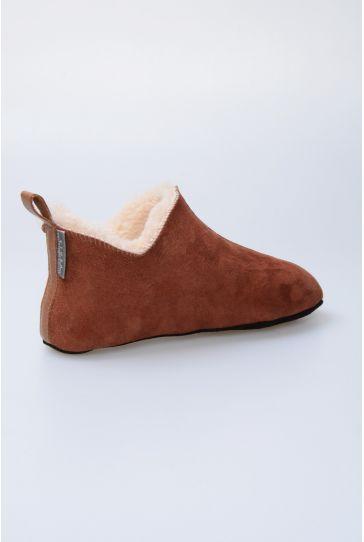 Pegia Hakiki Kürk Bayan Ev Ayakkabısı 980451 Kiremit