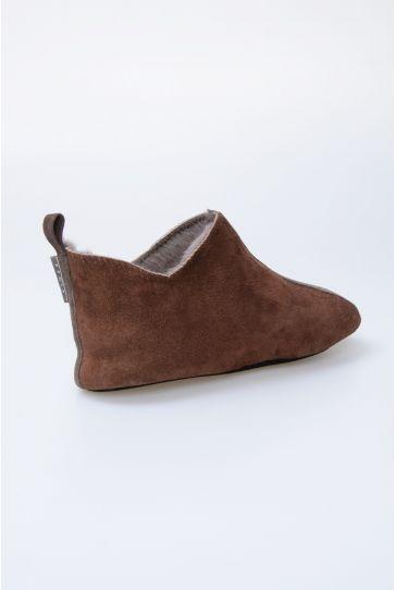 Pegia Hakiki Kürk Bayan Ev Ayakkabısı 980452 Kahve