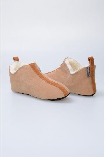 Pegia Hakiki Kürk Bayan Ev Ayakkabısı 980454 Sahra
