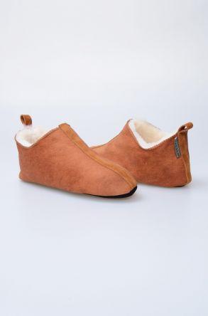 Pegia Hakiki Kürk Bayan Ev Ayakkabısı 980438 Ginger