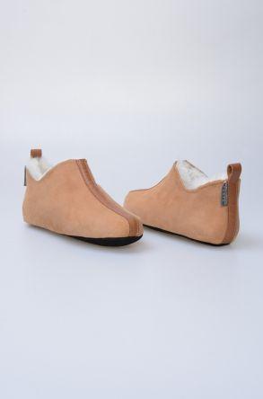 Pegia Hakiki Kürk Desenli Bayan Ev Ayakkabısı 980479 Taba