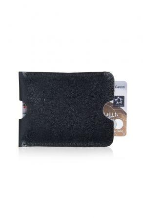 Pegia Hakiki Deri Kartlık Cüzdan 19CZ255 Black