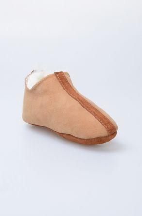 Pegia Hakiki Kürklü Çocuk Ev Ayakkabısı 880254 Taba