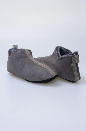 Pegia Hakiki Kürk Bayan Ev Ayakkabısı 980518 Gri