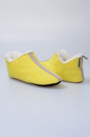 Pegia Hakiki Kürk Bayan Ev Ayakkabısı 980561 Açık Yeşil